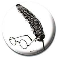 Placka Harry Potter - Glasses and Feather