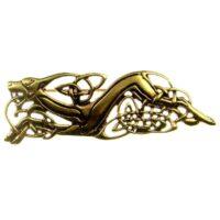 Bronzová brož keltská šelma